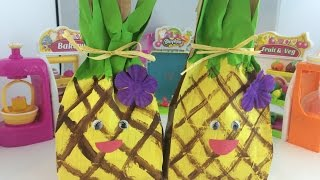 DIY Shopkins Pineapple Crush Party Candy Bag Lunch Bag How To