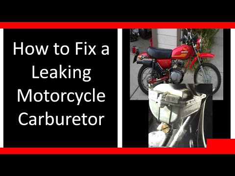 Motorcycle Carburetor / Carb Leaking Gas? How to Fix / Repair it. Honda XL75 XR75 DIY Tutorial