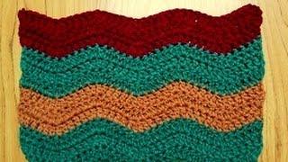 getlinkyoutube.com-كروشيه غرزة الموجة  لعمل بطانية للبيبي Crochet Cafe | كروشيه كافيه