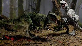 getlinkyoutube.com-T-Rex vs Indominus Rex