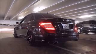 getlinkyoutube.com-Phil's Bagged Mercedes C300 4Matic LOUD Straight Pipe Exhaust