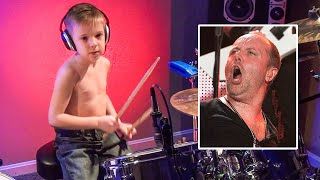 getlinkyoutube.com-Master of Puppets - Drum Cover - 6 year old Drummer - Avery Drummer Molek