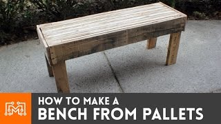 getlinkyoutube.com-How to make a bench from reclaimed pallets