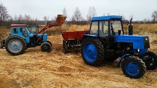 getlinkyoutube.com-Трактор ЛТЗ-60АВ и Т-40АМ Турбо, Работа на Карьере