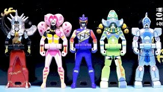 getlinkyoutube.com-파워레인저 다이노포스 데보스 레인저키 세트 장난감 Power Rangers Dino Charge Kyoryuger Deboth ranger key set