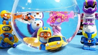 getlinkyoutube.com-뽀로로 타요 와 로봇 LED 피쉬 낚시, 또봇 Y W 물총 옥토넛 장난감 물놀이 Robot LED fish, Tobot Pororo Tayo