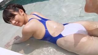 getlinkyoutube.com-Ai Yamagami 山上愛 3 - White / Blue Swimsuit