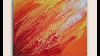 getlinkyoutube.com-Solar Flares: Acrylic Painting on Canvas