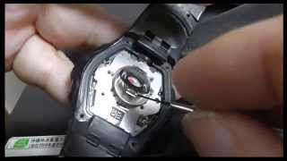 getlinkyoutube.com-Casio G-SHOCK Tough Solar Lithium Battery Replacement - How to CTL1616