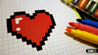 getlinkyoutube.com-Handmade Pixel Art - How To Draw a Kawaii Heart #pixelart