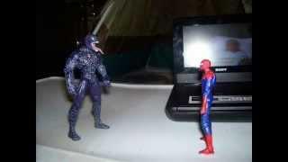 getlinkyoutube.com-The Amazing Spiderman vs. Venom stop motion Part 1