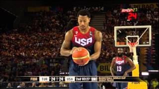 getlinkyoutube.com-Turkey-USA (40-35) FIBA Basketball World Cup - 2nd Quarter