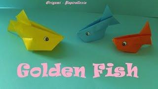 getlinkyoutube.com-Origami - Papiroflexia. Golden Fish, fácil