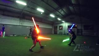 getlinkyoutube.com-Senior duels (Double saber) - 29 May 2016 by The Saber Authority