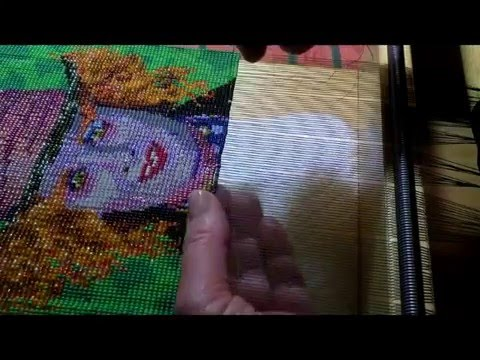 Beadweaving of Mad Hatter on a bead loom