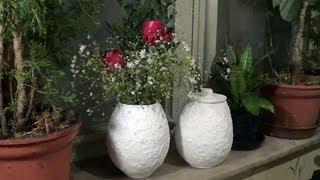 getlinkyoutube.com-Vasos e potes de jornal (Vases and pots from newspaper) - Part 1