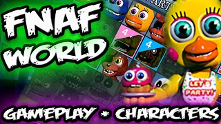 getlinkyoutube.com-FNAF WORLD GAMEPLAY Screens & SECRET Character Selection    FNAF World Teaser All Characters