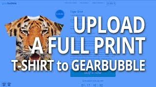 How to Design a Full Print T-shirt to Sell on Gearbubble