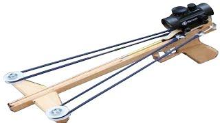 getlinkyoutube.com-Building and Shooting the Slingshot Crossbow Pistol 3