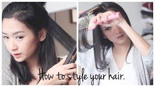 getlinkyoutube.com-How to style your hair using hair straightener (tutorial nyatok)