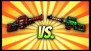 getlinkyoutube.com-Pixel Gun 3D - Elf's Revenge vs. Photon Sniper Rifle!