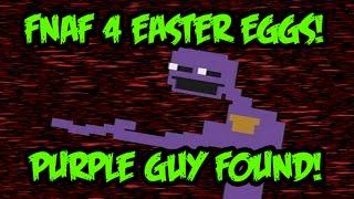 getlinkyoutube.com-EASTER EGGS! Purple Guy in FNaF4 + Halloween DLC News