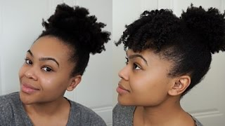 getlinkyoutube.com-High Puff & Puff With Bangs | Curly Natural Hair