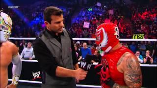 getlinkyoutube.com-Rey Mysterio, Sin Cara & Randy Orton vs. The Prime Time Players & Alberto Del Rio: WWE Main Event
