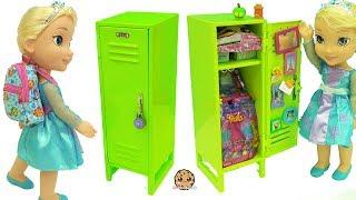 American Girl School Locker with Surprise Blind Bag Toys & Disney Frozen Queen Elsa Doll