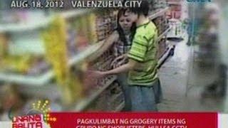 UB: Pagkulimbat ng grocery items ng grupo nh shoplifters sa Valenzuela City, huli sa CCTV