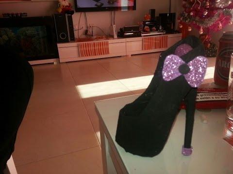 manualidades de carton zapato joyero MINI parte pr