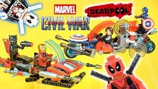 Captain America Civil War Vehicle Pack Combiners Bonus Deadpool Unofficial LEGO Minifigures