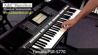 getlinkyoutube.com-Yamaha PSR-S770 Arranger Workstation Keyboard *FIRST LOOK*
