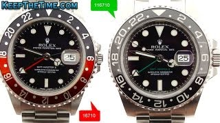 getlinkyoutube.com-Rolex GMT-Master II 16710 vs 116710 Comparison Video