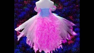 getlinkyoutube.com-No Sew Pink Princess Feather Tutu Dress