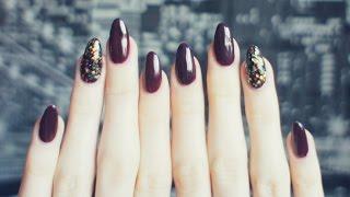getlinkyoutube.com-Idealny jesienny manicure | Paznokcie hybrydowe z brokatem | Semilac