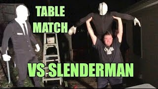 getlinkyoutube.com-SLENDERMAN SUBMISSION TABLES MATCH vs Grims Toy Show Backyard Wrestling Action!