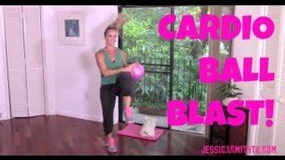 getlinkyoutube.com-Aerobics, Cardio, Exercise, Full Length 30-Minute Workout Video: Cardio Ball Blast