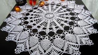 getlinkyoutube.com-mantel tejido a crochet de navidad