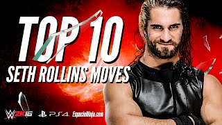 getlinkyoutube.com-WWE 2K16 Seth Rollins Top 10 Moves! |  EspacioNinja.com Top 10 Moves series
