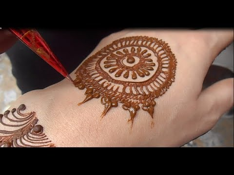 Full Video Easy & Simple Mehndi Design # Cute Henna Mehendi For Hand(New)