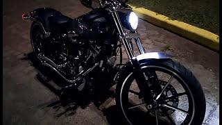 Harley Davidson Softail FXSB Breakout Vance&Hines Sound