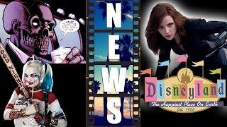 getlinkyoutube.com-Black Mask for Gotham City Sirens? Black Widow meet & greet at Disneyland 2017