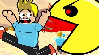getlinkyoutube.com-Roblox / Survive the Disasters! / Escape the Giant Pac Man! / Gamer Chad Plays