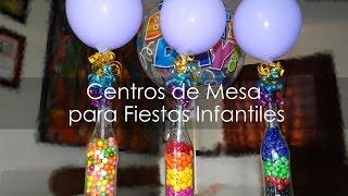 getlinkyoutube.com-Centro de Mesa para Fiestas Infantiles - Botellas Recicladas