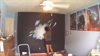 getlinkyoutube.com-Bedroom Galaxy Mural