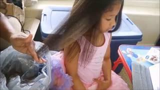 getlinkyoutube.com-FIRST TIME (4B-C) Kids Hair Straightening Tutorial