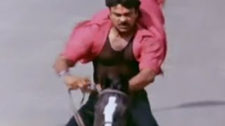 getlinkyoutube.com-Alluda Majaka Movie Scenes - Chiranjeevi horse ride - Ramya Krishna, Ramba