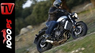 getlinkyoutube.com-Yamaha XSR700 Review 2016 | Test, Action, Sound