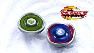 getlinkyoutube.com-Beyblade [OBB] Snow Winter Battle Fang Leone 130W2D vs Cosmic Pegasus F:D!
